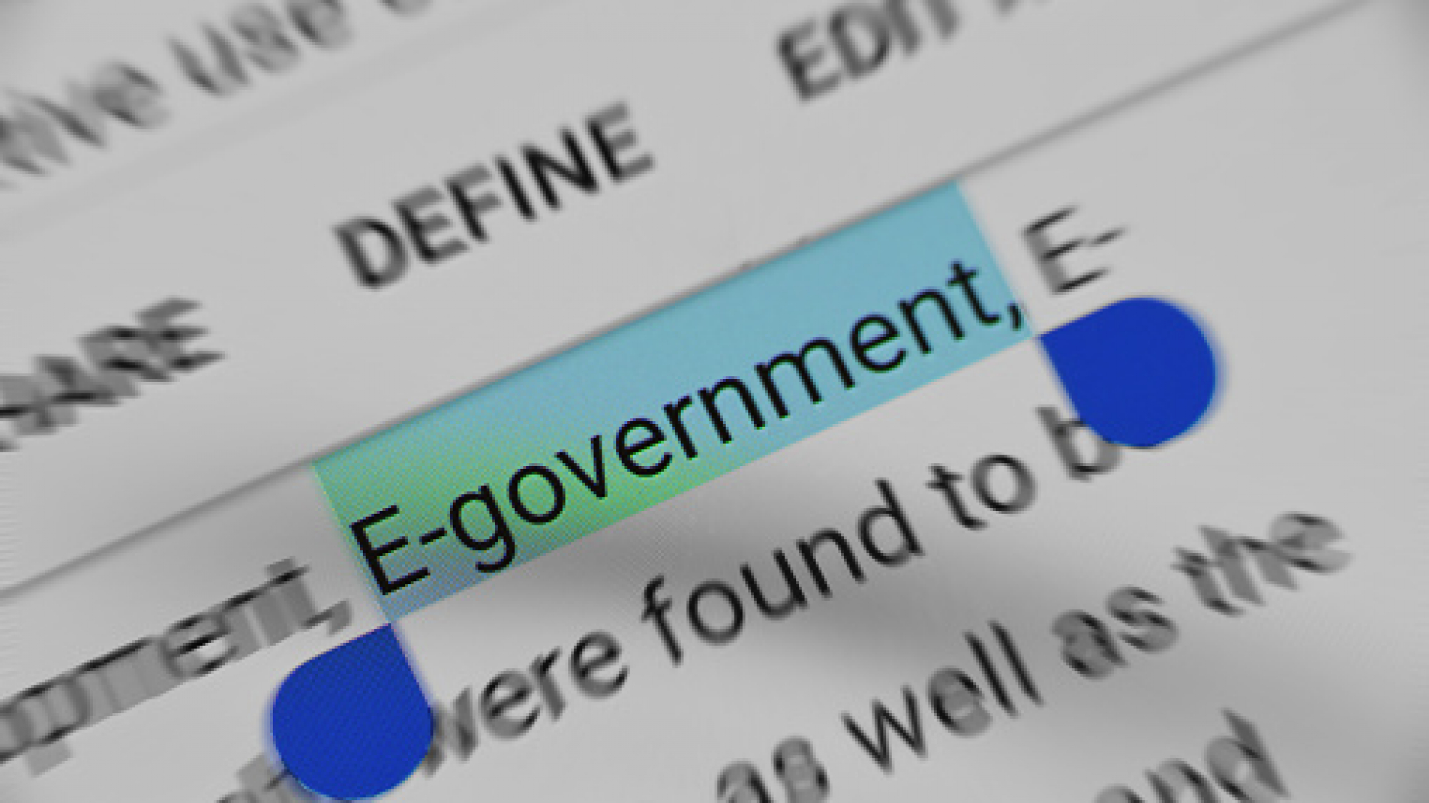 E- Government text selection online